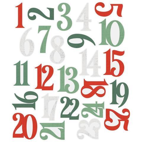 Высечки Country Christmas Cardstock Die-Cuts-Numbers