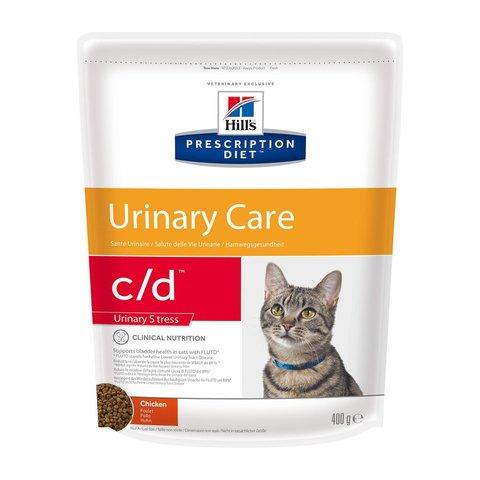 Hill's сухой корм для кошек С/D диета при стрессе 400г