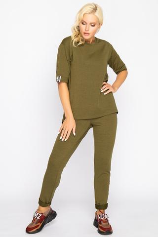 <p>Гламурный костюм в стиле casual. Удобный и практичный вариант на каждый день. (Длина брюк 103 см во всех размерах) (Длина брюк 103 см во всех размерах)</p>
