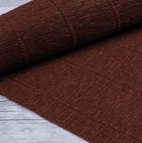 Гофрированная бумага однотонная. Цвет 568 коричневый, 180 г