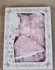 Наряд на крестины девочке Мари розово-белый