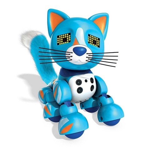 Интерактивный котенок голубой Патчес