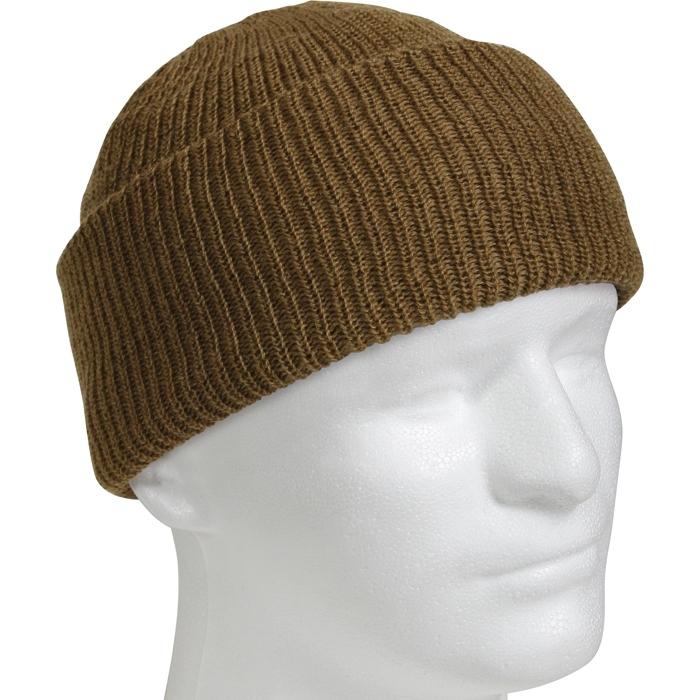 Шапка - Military Watch Cap Wool (коричневая)
