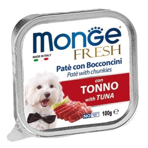 Monge Dog Fresh консервы для собак (тунец) 100г