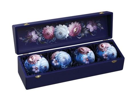 Набор из 4 елочных шаров в шкатулке SET04D-667785830