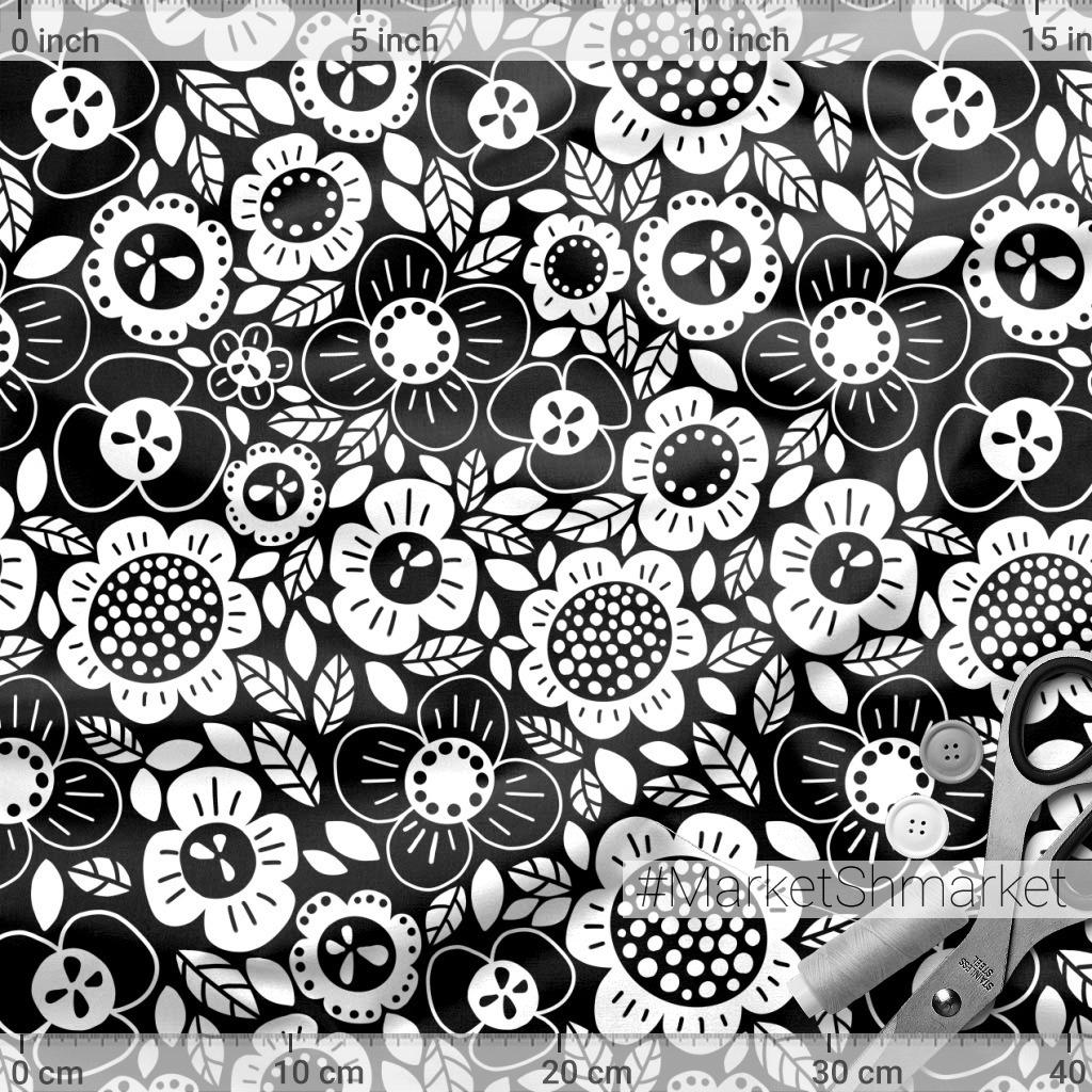 Черно-белые цветы