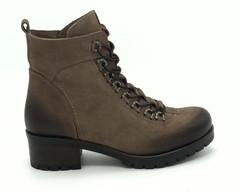 Коричневые ботинки из натурального нубука