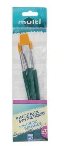 Набор кистей Lefranc&Bourgeois Multi Х3 [6/8/12], синтетика, короткая ручка