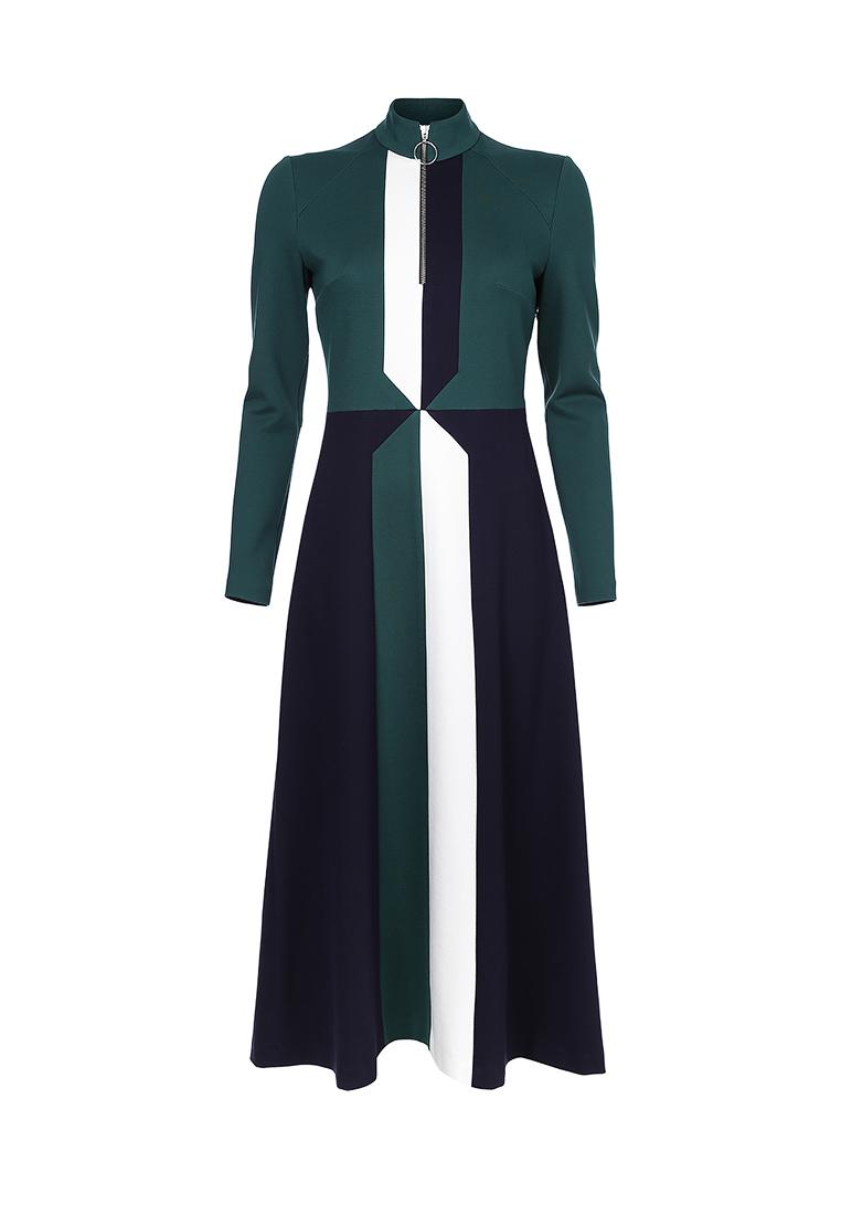 Платье сине- зеленое (FW0348)