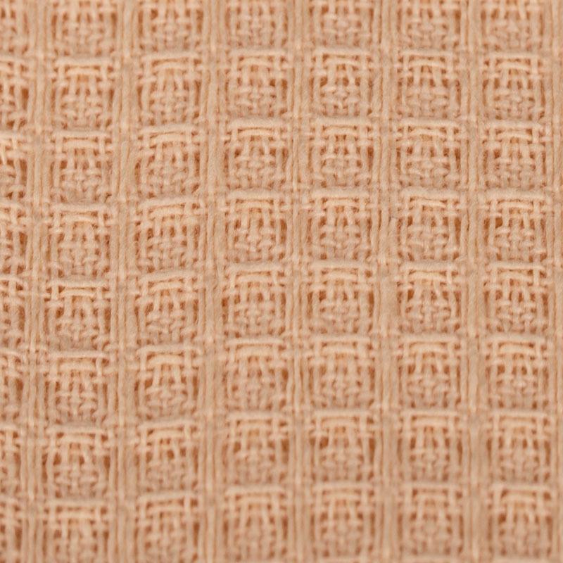 Персиковая вафельная ткань