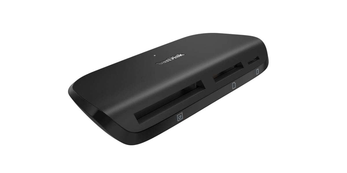Устройство чтения/записи флеш карт SanDisk ImageMate Pro, SD/microSD/CompactFlash, USB 3.0 вид сбоку
