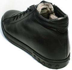 Кожаные зимние ботинки мужские черные Ridge 6051 X-16Black