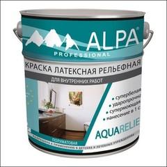 Краска в/д для внутренних работ ALPA Aquarelief (Белый)