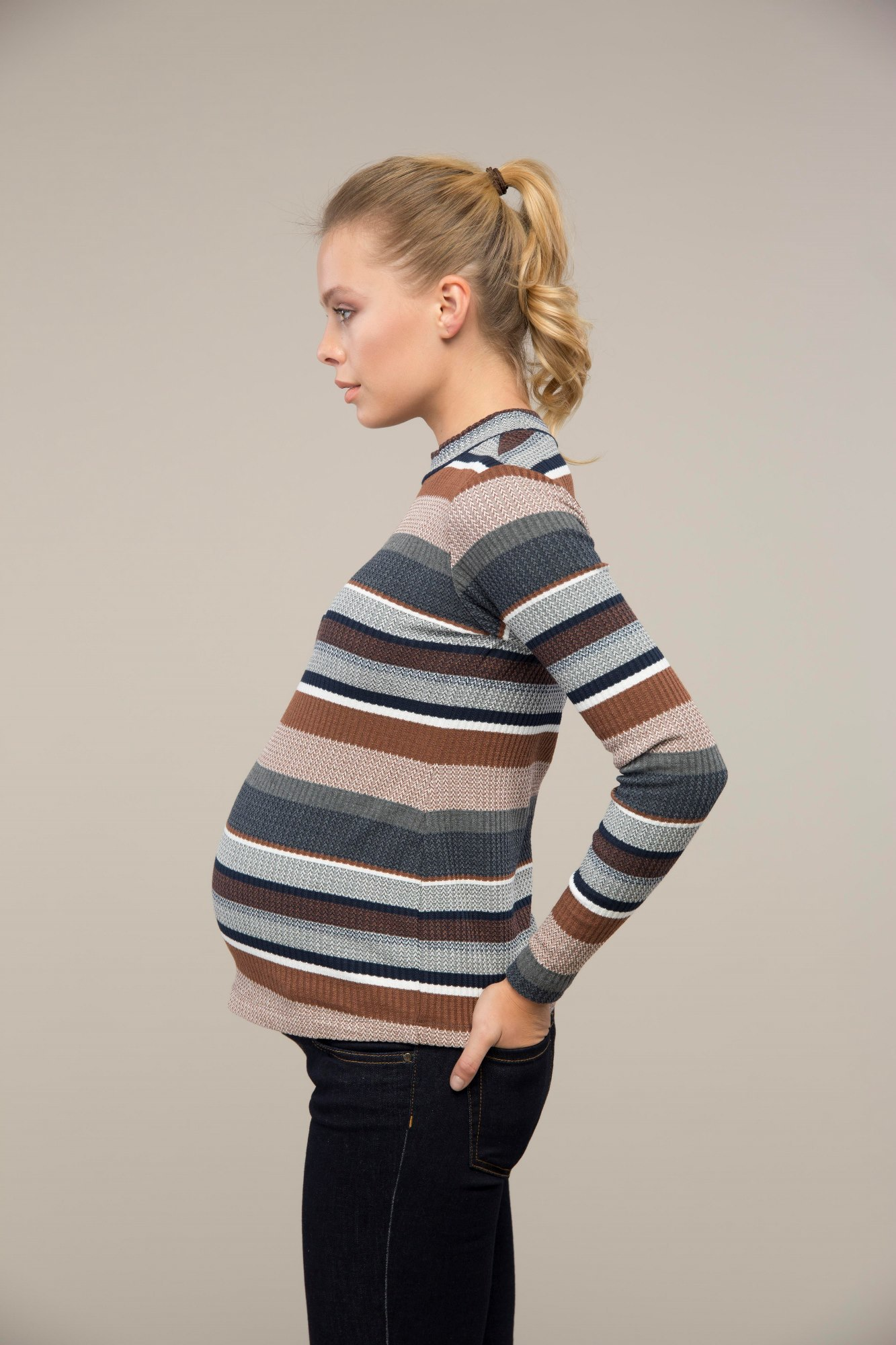 Водолазка для беременных 08994 цветной