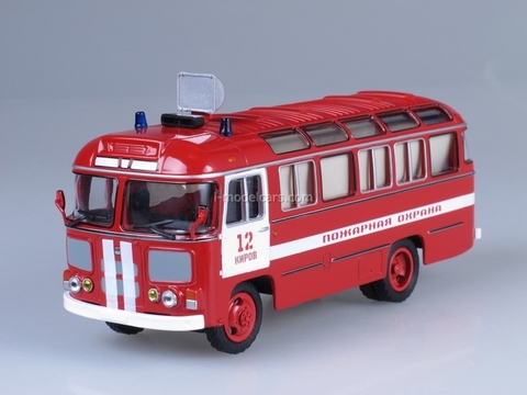 PAZ-672M Fire Staff Soviet Bus 1:43