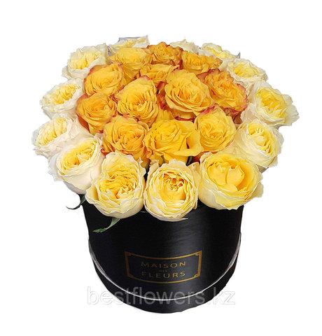 Коробка Maison Des Fleurs Желтая Пионовидная