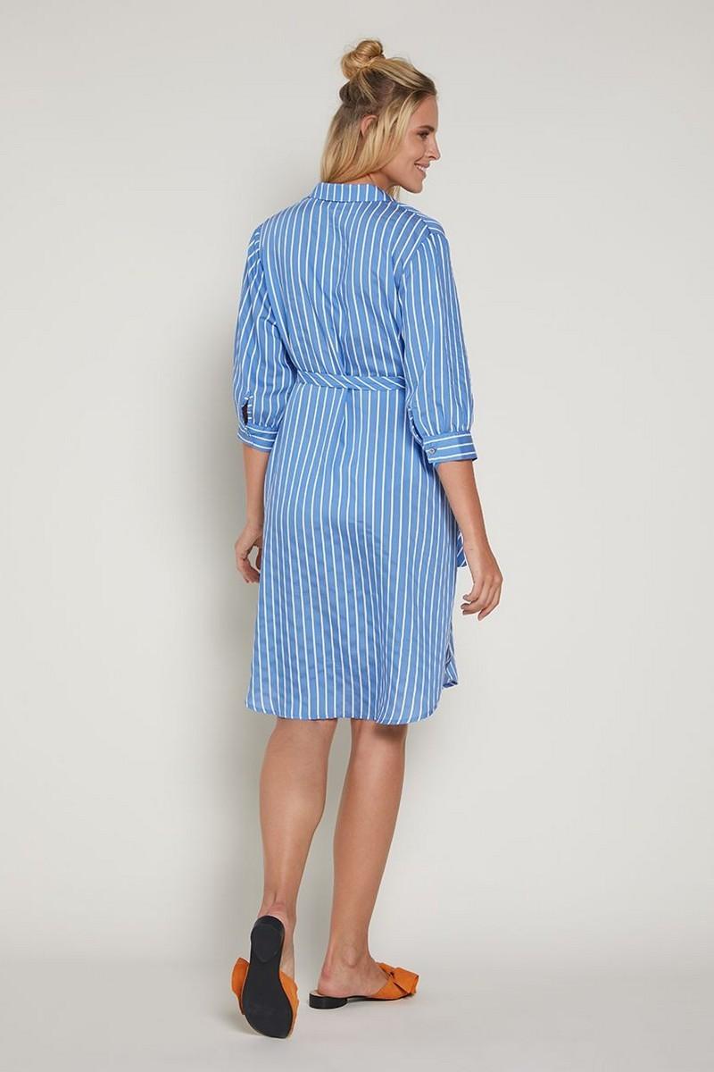 Фото платье-рубашка для беременных GEBE от магазина СкороМама, голубой, размеры.