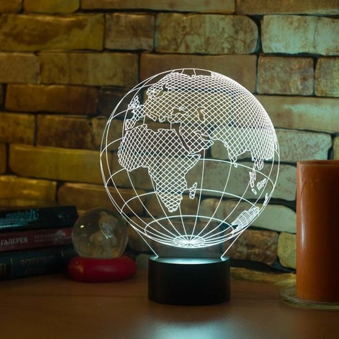 3D лампа Европа (глобус)