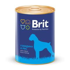 Brit Premium BEEF&RICE Говядина и рис, консервы для собак, 850г