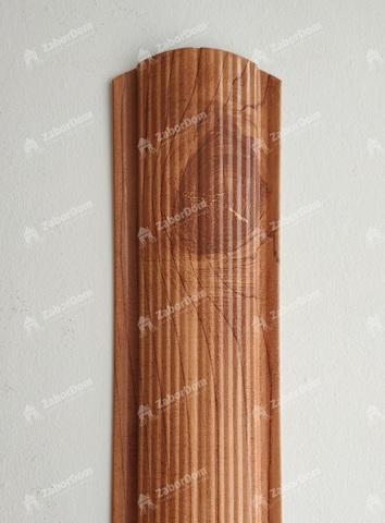 Евроштакетник металлический 110 мм Золотое дерево фигурный 0.5 мм
