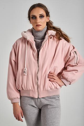 меховая джинсовая куртка nadya