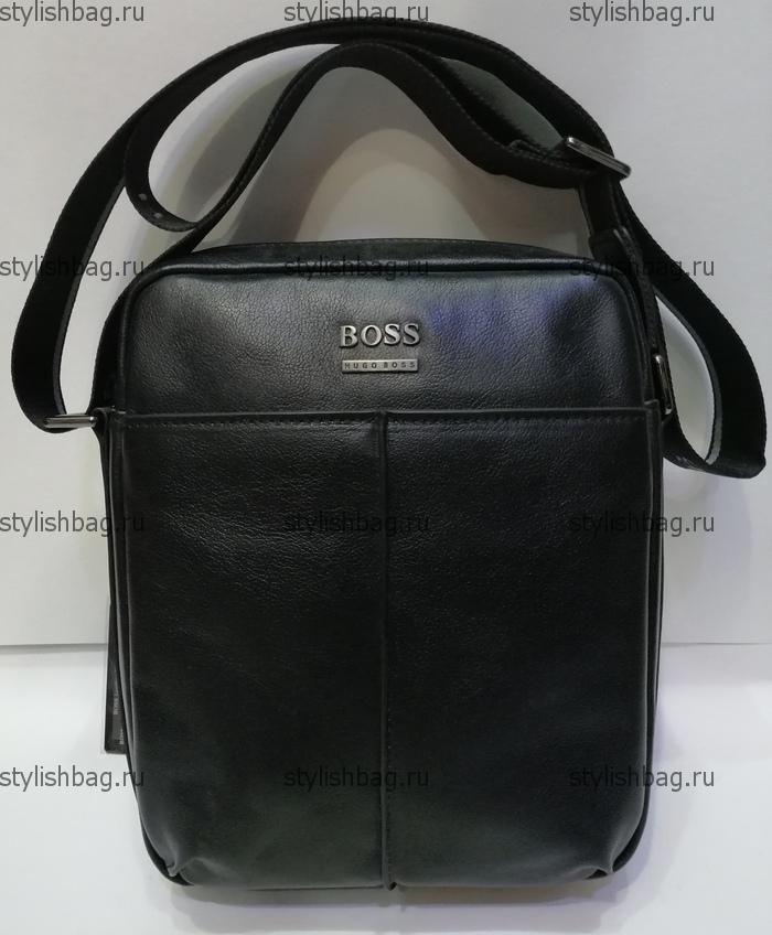 Мужская сумка - планшет Hugo Boss 4718 Black