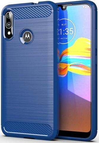 Чехол Motorola Moto E6S (E6 Plus) цвет Blue (синий), серия Carbon, Caseport
