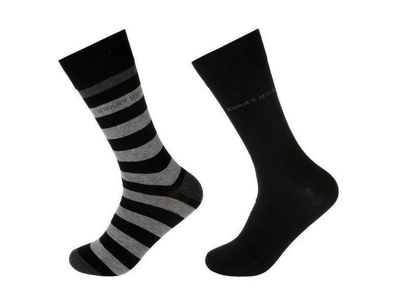 Носки мужские черные JOHN FRANK - комплект из 2 пар