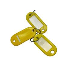 Бирки для ключей пластиковые желтые (10 штук в упаковке)
