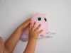 Ночник настенный совенок Mel розовый