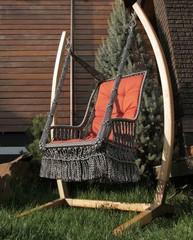 Подвесное кресло Инка с деревянным каркасом Форк