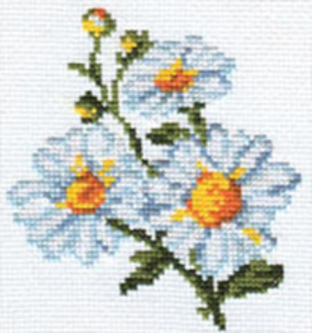 Ромашки¶Размер: 10х11 см ¶Кол-во цветов: 8