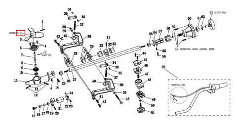 Винт гребной для лодочного мотора T2 SEA-PRO