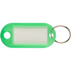 Бирки для ключей пластиковые зеленые (10 штук в упаковке)