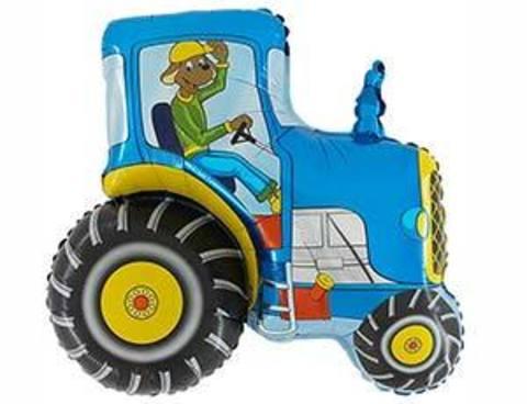 Фольгированный шар Синий трактор