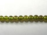 Бусина из граната зеленого, шар гладкий 4 мм