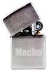 Зажигалка Zippo Macho с покрытием Brushed Chrome, латунь/сталь, серебристая, матовая, 36x12x56