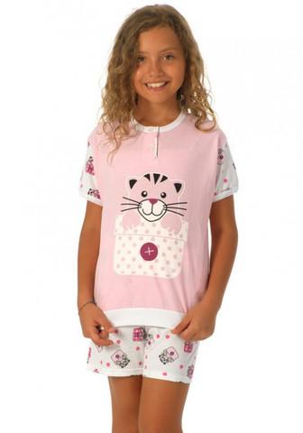 Летняя пижама для девочки с котиками