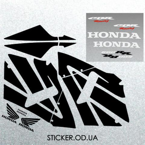 Набор виниловых наклеек на мотоцикл Honda CBR 600 RR, 2005