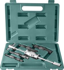 Съемник подшипников с удлиненными цанговыми захватами за внутреннюю обойму и обратным молотком в наборе, диапазон захватов 10-32 мм