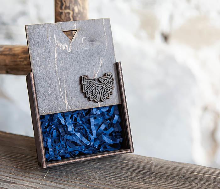 BOX232-1 Маленькая подарочная коробка для браслета (9,5*9,5*3,5 см) фото 06