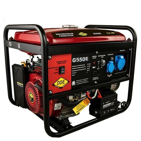 Генератор бензиновый DDE G550E (1ф 5,0/5,5 кВт бак 25 л 80 кг дв-ль 13 л.с. элстарт) (917-415)