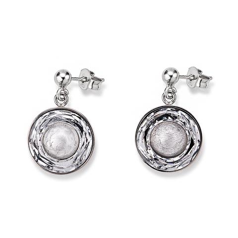 Серьги Coeur de Lion 4835/21-1700 цвет серебряный, серый