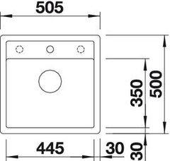 Мойка кухонная Blanco Dalago 5-F Silgranit - вид сверху