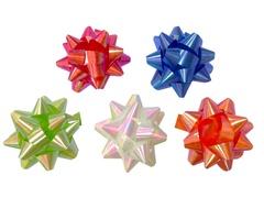 Бант-звезда Классика Ассорти, 7х7 см, 6 шт.