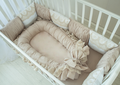 Babynest , гнездышко, кокон для младенца Taupe