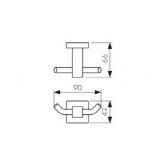 Крючок двойной KAISER Сanon BR KH-4302 схема