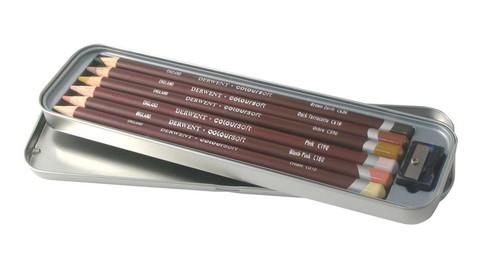 Набор из 6 цветных карандашей Derwent Coloursoft