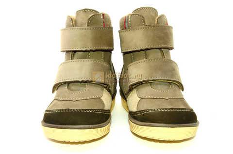 Ботинки для мальчиков Лель (LEL) на байке из натуральной кожи цвет коричневый. Изображение 5 из 14.