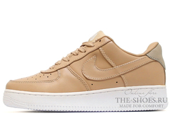 Кроссовки Женские Nike Air Force 1 Low Leather Beige